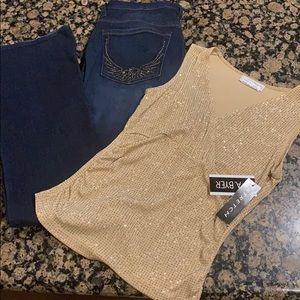 Rock & Republic Jeans outfit A. Byer Blouse Top